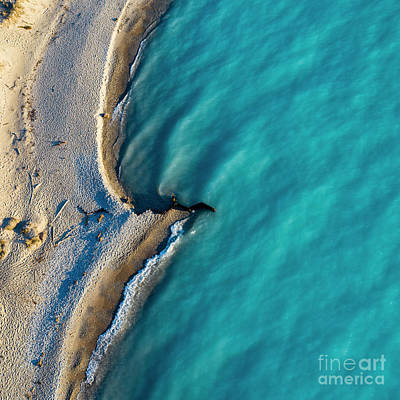 Royalty-Free and Rights-Managed Images - Point Betsie Blue Waters Aerial by Twenty Two North Photography