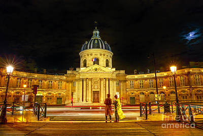 Photograph - Pont Des Arts Night by Benny Marty