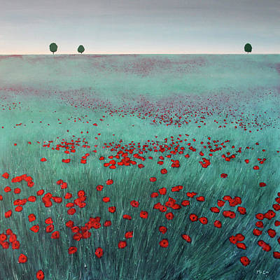 Painting - Poppy Field by K McCoy