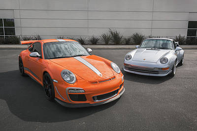 Photograph - #porsche #993gt2 And 4.0 #gt3rs #print by ItzKirb Photography
