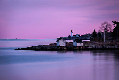 Photograph - Portland Head Lighthouse At Dusk by Gary Shepard