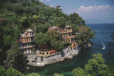 Architecture Photograph - Portofino by Slim Aarons