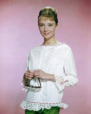 Photograph - Portrait Of Audrey Hepburn by Hulton Archive