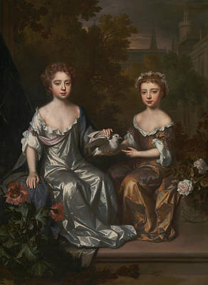 Painting - Portrait Of Henrietta And Mary Hyde by Willem Wissing