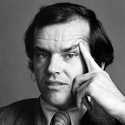 Photograph - Portrait Of Jack Nicholson by Jack Robinson