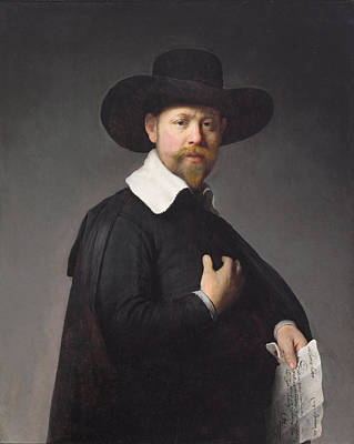 Painting - Portrait Of Marten Looten by Rembrandt