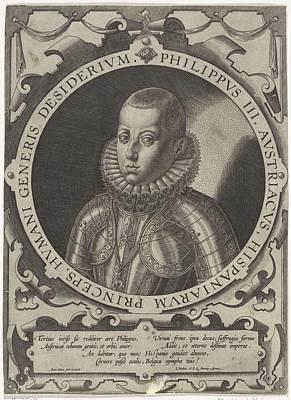 Painting - Portrait Of Philip IIi  King Of Spain, Antonie Wierix II  1599   1604 by Celestial Images