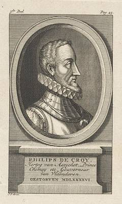 Painting - Portrait Of Philip IIi Of Croy  Duke Of Aarschot  Prince Of Chimay  Jan Punt  1750 by Celestial Images
