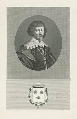 Painting - Portrait Of Philip Karel Duke Of Aarschot Prince Of Arenberg, Jan Frederik Christiaan Reckleben 18 by Celestial Images