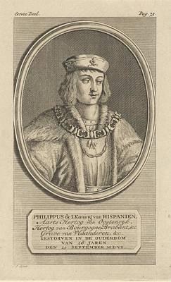 Painting - Portrait Of Philip The Fair Duke Of Burgundy  Jan Punt  1748 by Celestial Images