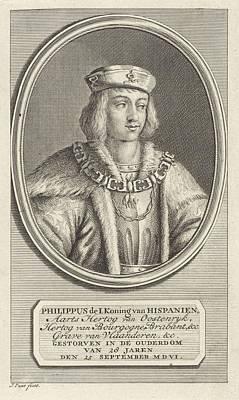 Painting - Portrait Of Philip The Fair  Duke Of Burgundy  Jan Punt  1786 by Celestial Images