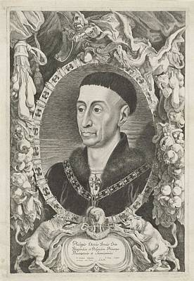 Painting - Portrait Of Philip The Good  Jacob Louys After Pieter Claesz  Soutman  After Jan Van Eyck 1644  1 by Celestial Images