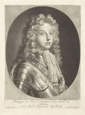 Painting - Portrait Of Philip V King Of Spain Jacob Gole  After Jean Francois De Troy  1700   1724 by Celestial Images