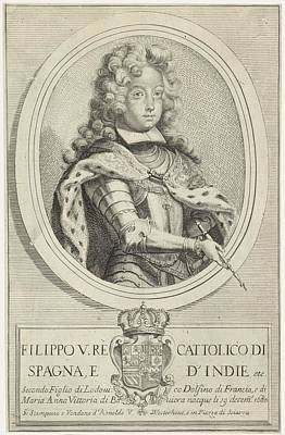 Painting - Portrait Of Philip V Of Spain  Arnold Van Westerhout  1683   1725 by Celestial Images