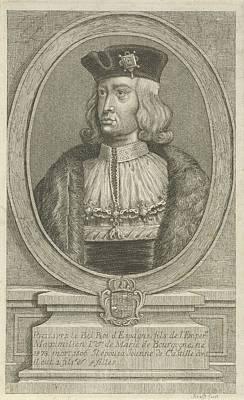 Painting - Portrait Of Philips De Schone Jan Lauwryn Krafft I  1704   1765 by Celestial Images