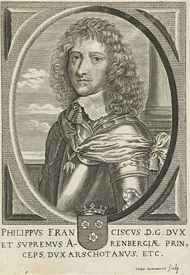 Painting - Portrait Of Philips Francois  Duke Of Arenberg  Coenraet Waumans  1633   1673 by Celestial Images