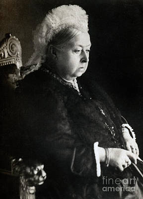 Photograph - Portrait Of Queen Victoria  by English School