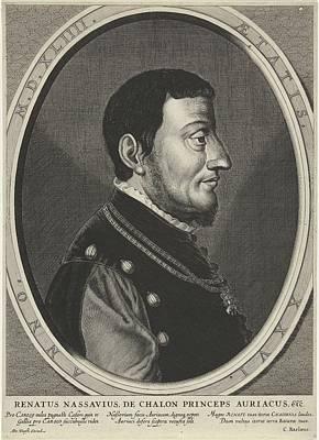 Painting - Portrait Of Rene De Chalon Prince Of Orange  Crispijn Van Den Queborn Attributed To  After Jan Van  by Celestial Images