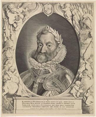 Painting - Portrait Of Rudolf II Of Habsburg German Emperor Pieter Van Sompel  After Pieter Claesz  Soutman  1 by Celestial Images