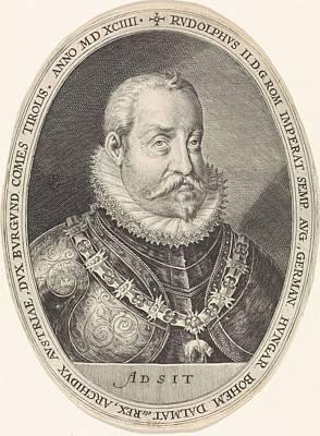 Painting - Portrait Of Rudolf II Van Habsburg  Crispijn Of The Passe I  1604 by Celestial Images
