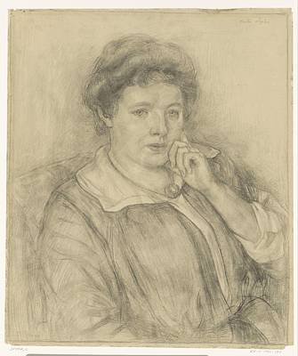 Painting - Portrait Of Sophia Spoor  The Sister Of The Artist Cornelis Spoor  1877  1928 by Celestial Images