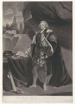 Painting - Portrait Of The Duke Of Clarence  Charles Howard Hodges  After John Hoppner  1792 by Celestial Images