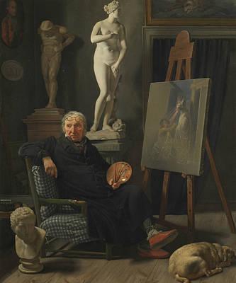 Painting - Portrait Of The Painter C. A. Lorentzen by Martinus Rorbye