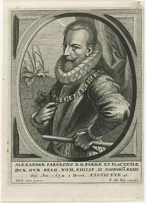 Painting - Portret Van Alexander Farnese Hertog Van Parma Pieter De Jode II, After Ottho Vani 1628  1670 by Celestial Images