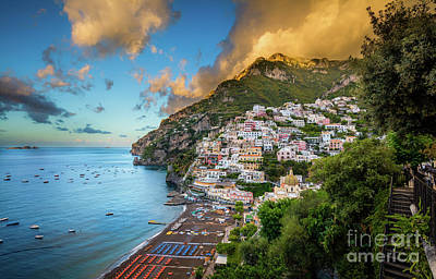 Photograph - Positano Sunrise by Inge Johnsson