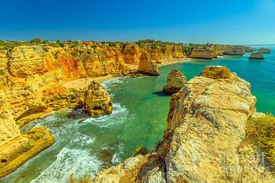 Photograph - Praia Da Marinha Aerial by Benny Marty