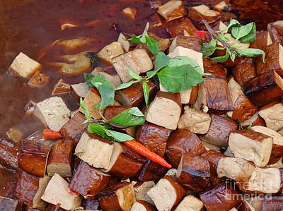 Photograph - Pressed Tofu Cooked In Sauce by Yali Shi