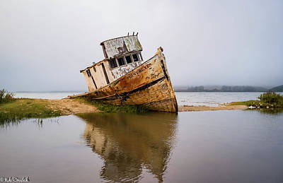 Photograph - Pt Reyes Wreck by Mike Ronnebeck