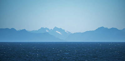 Photograph - Puget Sound Near Seattle Washington And Mountain Background by Alex Grichenko
