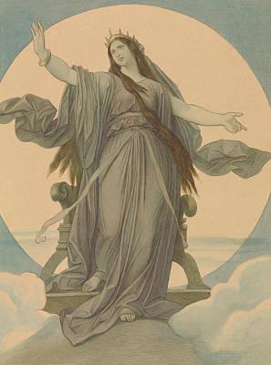 Drawing - Queen Of The Night by Moritz von Schwind