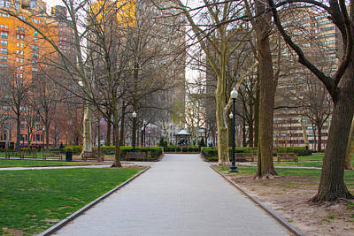 Photograph - Quiet Morning In Rittenhouse Square by Bill Cannon