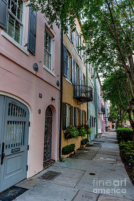 Photograph - Rainbow Row - Charleston South Carolina by Dale Powell