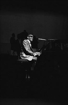 Photograph - Ray Charles Behind The Scence At The by Reporters Associes