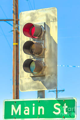 Photograph - Red Light Barstow by Benny Marty