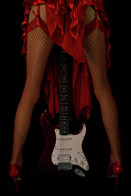 Urban Abstracts - Red Passion - Fender Stratocaster by Mila Vasileva