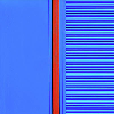 Blue With Red Stripe Art Print