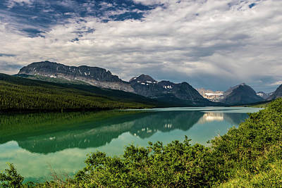 Photograph - Reflections Of The Many Glaciers In Swift Current Lake, Many Gla by David Butler