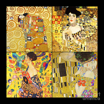 Photograph - Remastered Art By Gustav Klimt Four Squares 20190303 by Wingsdomain Art and Photography