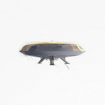 Science Fiction Royalty-Free and Rights-Managed Images - Retro UFO by Raphael Terra