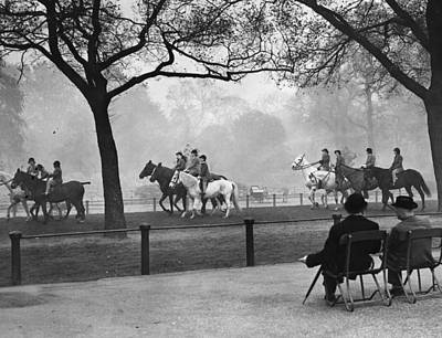 Hyde Park Wall Art - Photograph - Riding In Park by Fox Photos