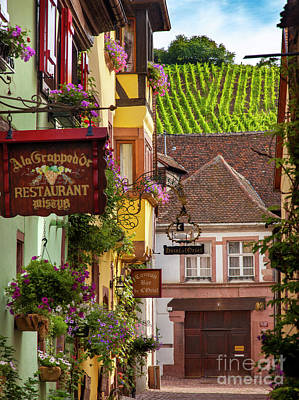 Photograph - Riquewihr Morning by Brian Jannsen