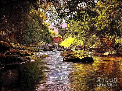 Digital Art - River by Laura Forde