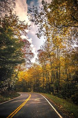 Photograph - Roads Surrounded By Autumn Leaves Season In Damascus Virginia by Alex Grichenko