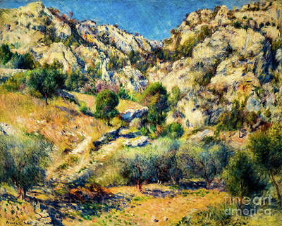Painting - Rocky Crags At L'estaque by Auguste Renoir