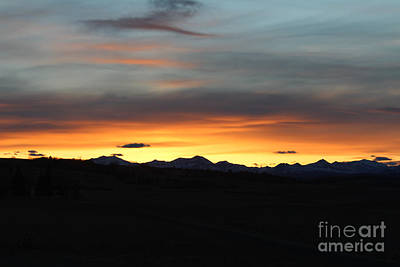 Photograph - Rocky Mountain Sunset by Ann E Robson