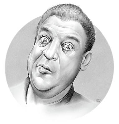 Musicians Drawings Rights Managed Images - Rodney Dangerfield Royalty-Free Image by Greg Joens